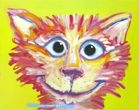 Abstracta Cat  Signed Print of Cat Painting