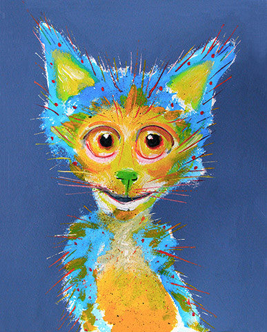 Blue Boy   Signed Print of Cat Painting