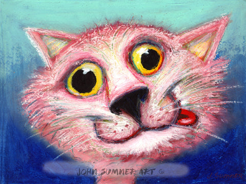 Catnipped   Signed Print of Cat Painting