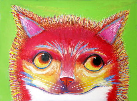 Sun Shine   Cat  Signed Print of Cat Painting