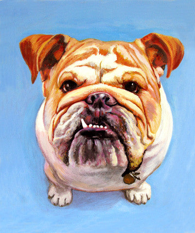 Cooper  Signed Print of Bull Dog Painting