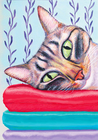 Cushy Life  Signed Print of Cat Painting