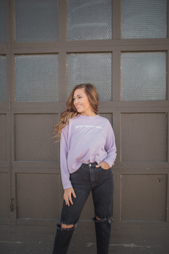 Girls Support Girls Long Sleeve Tee