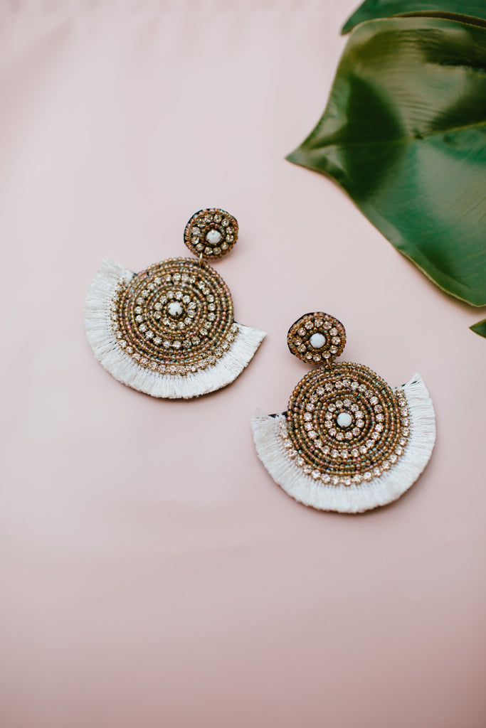 Boho Disc Beaded Earrings