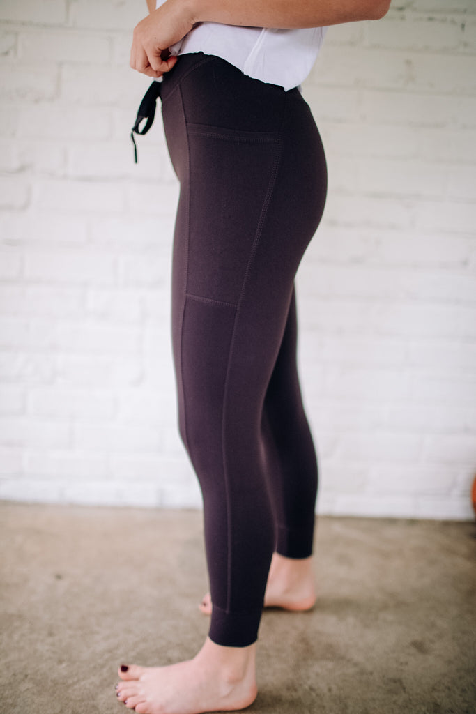 Hybrid Jogger/Leggings - Plum