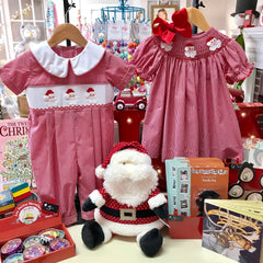 Children's Christmas outfits and dresses for baby girls and boys.