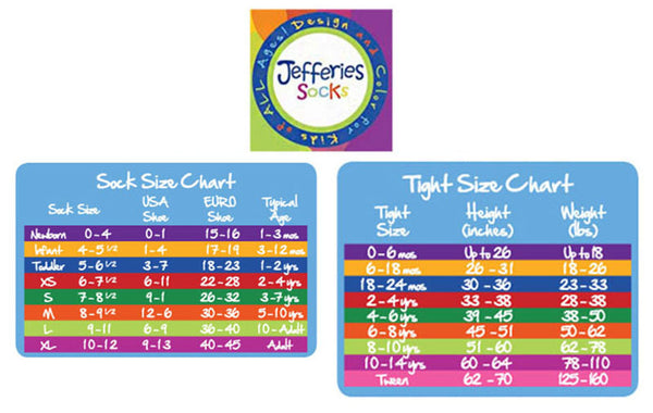 Jefferies Socks Size Chart Madison-Drake Children's Boutique