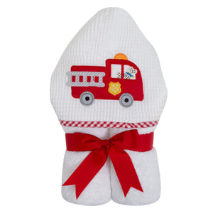 3 Marthas Firetruck Appliqued Everykid Bath Towel