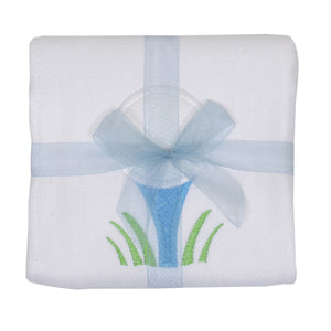 3 Marthas Golf Appliqued Baby Boy's Burp Cloth
