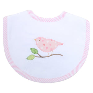3 Marthas Bird Applique Bib - Madison-Drake Children's Boutique