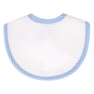3 Marthas Blue Gingham Pique Bib - Madison-Drake Children's Boutique