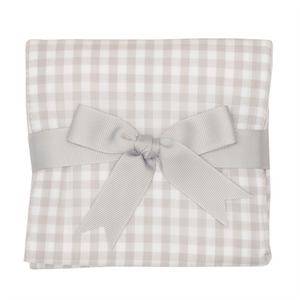 3 Marthas Grey Check Fabric Burp Cloth - Madison-Drake Children's Boutique