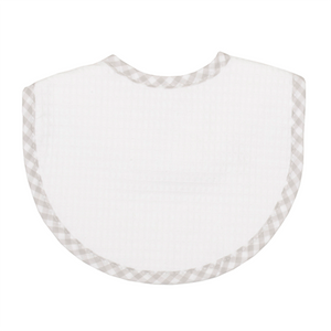 3 Marthas Grey Check Pique Bib - Madison-Drake Children's Boutique