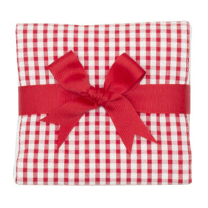 3 Marthas Red Check Fabric Burp Cloth - Madison-Drake Children's Boutique