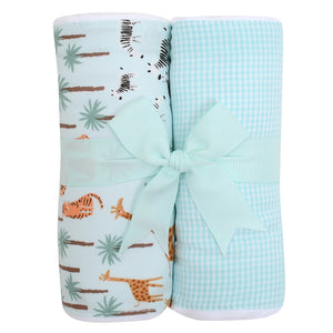 3 Marthas Safari Fabric Burp Pads Set - Madison-Drake Children's Boutique