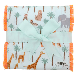 3 Marthas Safari Fancy Fabric Burp Cloth - Madison-Drake Children's Boutique