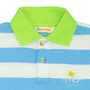 Luigi Kids Boys Embroidered Sea Turtles Shorts Set - Madison-Drake Children's Boutique