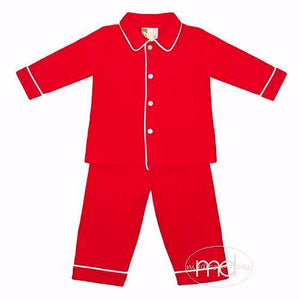 Banana Split Red Monogrammable Boys Loungewear - Madison-Drake Children's Boutique