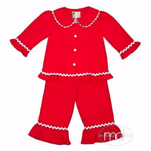Banana Split Red Monogrammable Girls Loungewear - Madison-Drake Children's Boutique