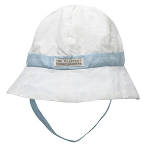 Beaufort Bonnet Boys Henrys Boating Bucket Hat - White / Buckhead Blue - Madison-Drake Children's Boutique