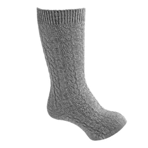 Carlomagno Boys / Girls Cable Knit Knee Socks - Grey - Madison-Drake Children's Boutique