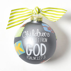 Coton Colors Children Are A Gift From God Glass Ornament - Madison-Drake Children's Boutique