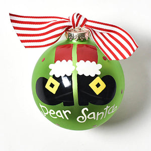 Coton Colors Dear Santa Glass Ornament - Madison-Drake Children's Boutique
