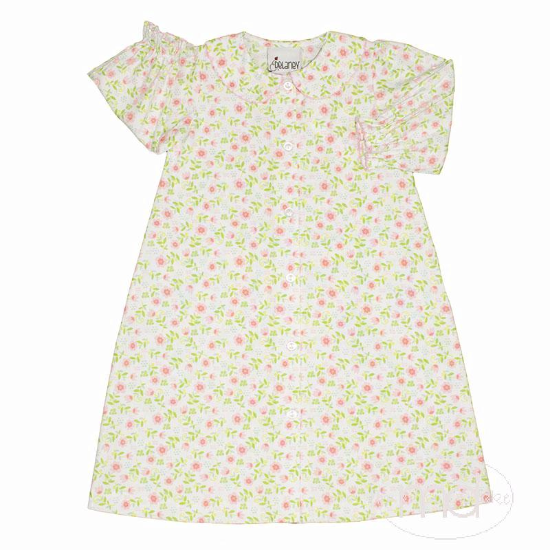 Delaney Pink Petal Little Girl's Gown Baby Girl's Daygown