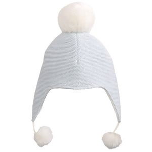 Elegant Baby Boys Blue Pom Pom Hat - Madison-Drake Children's Boutique