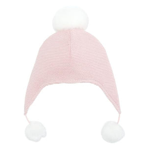 Elegant Baby Girls Pink Pom Pom Hat - Madison-Drake Children's Boutique