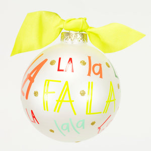 Coton Colors Fa La La La La Glass Ornament - Madison-Drake Children's Boutique