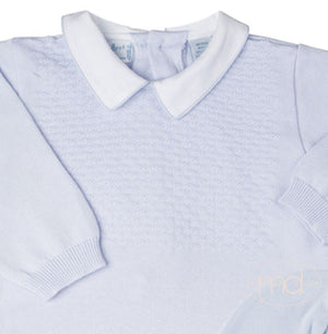 Feltman Brothers Baby Boys Blue Knit Bubble Set - Madison-Drake Children's Boutique