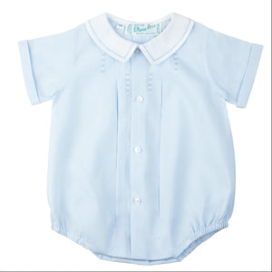 Feltman Brothers Newborn Boys Blue Button Front Bubble - Madison-Drake Children's Boutique