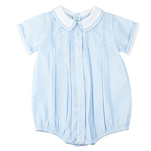 Feltman Brothers Baby Boys Blue Pintuck Bubble - Madison-Drake Children's Boutique