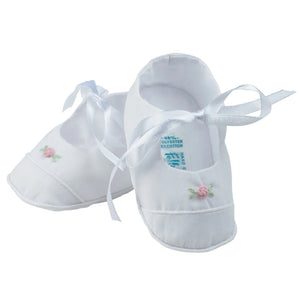 Feltman Brothers Baby Girls Rosebud Newborn Booties - Madison-Drake Children's Boutique