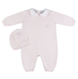Feltman Brothers Baby Girls Pink Knit Bubble Set - Madison-Drake Children's Boutique