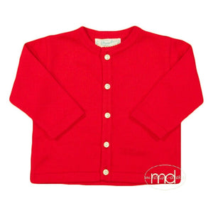 Feltman Brothers Boys / Girls Classic Red Cardigan - Madison-Drake Children's Boutique