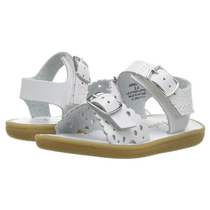 Footmates Ariel Sweetheart Little Girl's White Sandals