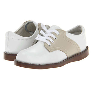 Footmates Boys White / Ecru Saddle Oxfords - Madison-Drake Children's Boutique