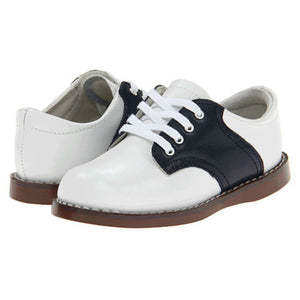 Footmates Boys White / Navy Saddle Oxfords - Madison-Drake Children's Boutique