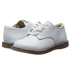 Footmates Boys Willy White Leather Oxford Shoes - Madison-Drake Children's Boutique