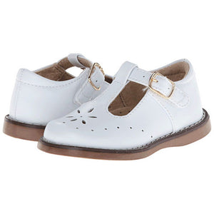 Footmates Girls White Sherry T-Straps - Madison-Drake Children's Boutique