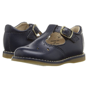 Footmates Girls Harper Navy T-Strap Shoes - Madison-Drake Children's Boutique