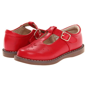 Footmates Girls Apple Red Sherry T-Straps - Madison-Drake Children's Boutique