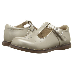 Footmates Girls Pearl Pearlized Sherry T-Straps - Madison-Drake Children's Boutique