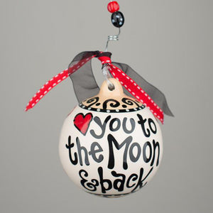 Glory Haus To The Moon and Back Christmas Ornament Ceramic