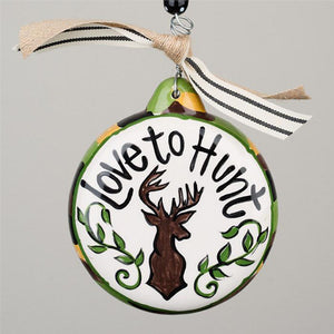 Glory Haus Love to Hunt Christmas Ornament Ceramic