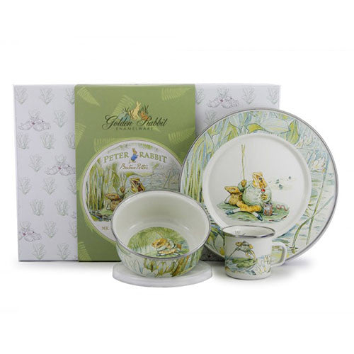 Golden Rabbit Childs Enamelware Set - Jeremy Fisher - Madison-Drake Children's Boutique