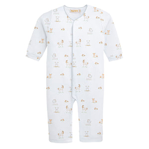 Happy Farm Print Pima Cotton Playsuit