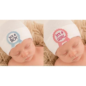 Ilybean Its A Boy / Girl Newborn Surprise Hospital Hat - Madison-Drake Children's Boutique